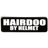 Hairdoo By Helmet Sticker