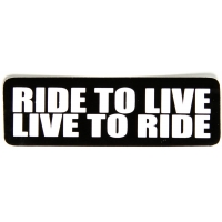 Ride To Live Live To Ride Sticker