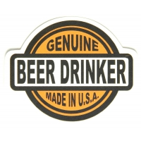 Genuine Beer Drinker Made In USA Sticker