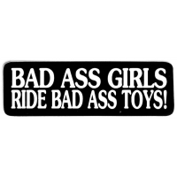 Badass Girls Ride Badass Toys Sticker