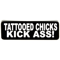 Tattooed Chicks Kick Ass Sticker