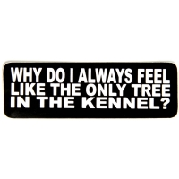 Why Do I Always Feel Like The Only Tree In The Kennel Sticker