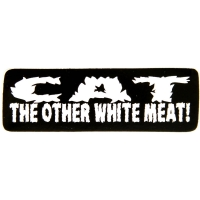 Cat The Other White Meat Sticker