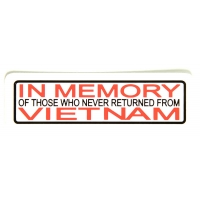 In Memory Of Those Who Never Returned From Vietnam Sticker