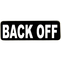 Back Off Sticker