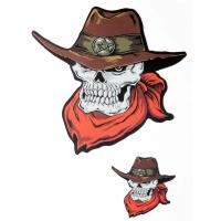 Skull Cowboy Sticker
