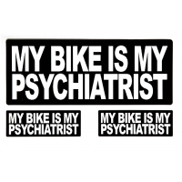 My Bike Is My Psychiatrist Sticker