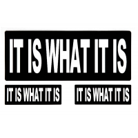 It Is What It Is Bumper Sticker