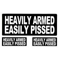 Heavily Armed Easily Pissed Sticker