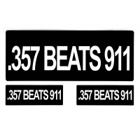 357 Beats 911 Sticker