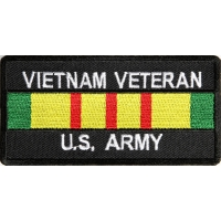Vietnam Veteran Army Patch Rect | US Military Vietnam Veteran Patches