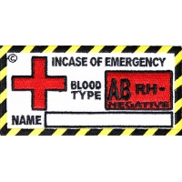 Blood Group AB Negative Patch