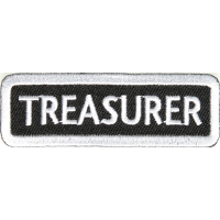 Treasurer Patch White