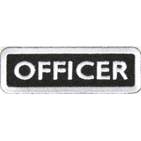Officer Patch White | US Army Military Veteran Patches