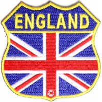 England Shield Flag Patch | Embroidered Patches