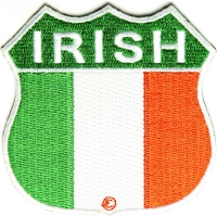 Irish Shield Flag Patch | Embroidered Patches