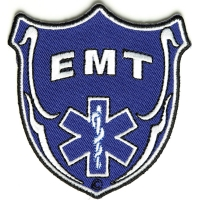 EMT Shield Patch | Embroidered EMT Patches