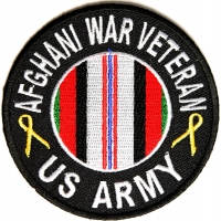 Afghani War Veteran US Army Round Patch | US Military Veteran Patches