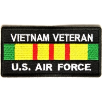 Vietnam Veteran Air Force Patch Rect | US Military Vietnam Veteran Patches