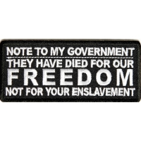 Note To My Government Patch | Embroidered Patches