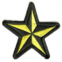 Black And Yellow Star Patch | Embroidered Patches