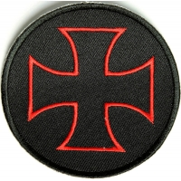 Iron Cross Patch Red Black