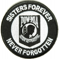 Sisters Forever POW MIA Patch | US Military Veteran Patches