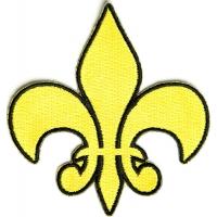 Fleur De Lis Patch Yellow