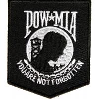 POW MIA Patch Black White | US Military Veteran Patches