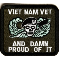 Vietnam Vet And Damn Proud Of It Patch | US Military Vietnam Veteran Patches