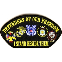 Cap Defenders Of Our Freedom I Stand Beside Them Patch | US Military Veteran Patches