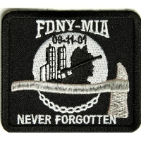 FDNY MIA Never Forgotten Patch | Embroidered Patches