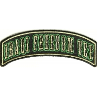 Iraqi Freedom Vet Rocker Small Patch | US Military Veteran Patches