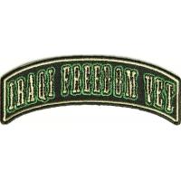 Iraqi Freedom Vet Rocker Small Patch | US Military Veteran Patches