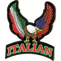 Italian Eagle Patch Small | Embroidered Patches