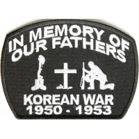 In Memory Of Our Fathers Korean War Patch | US Military Veteran Patches