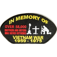 In Memory Of Vietnam Cap Patch | US Military Vietnam Veteran Patches