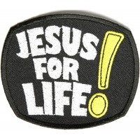 Jesus For Life Patch | Embroidered Patches