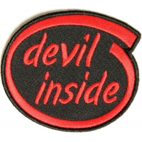 Devil Inside Patch | Embroidered Patches