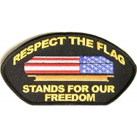 Respect Our Flag Cap Patch | US Military Veteran Patches