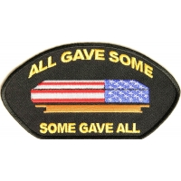 All Gave Some Gave All Casket Cap Patch | US Military Veteran Patches