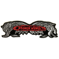 Broken Wings Patch Small | Embroidered Biker Patches