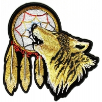 Howling Wolf Dreamcatcher Patch Medium | Embroidered Patches