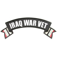 Iraq War Vet Rocker Patch With Flags | US Military Veteran Patches