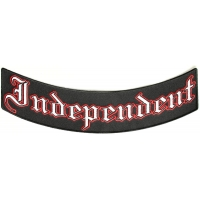 Independent Biker Lower Rocker Patch | Embroidered Patches