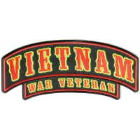 Vietnam War Veteran Rocker Large | US Military Vietnam Veteran Patches