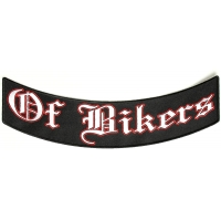 Of Bikers Large Lower Rocker Vest Back Patch | Embroidered Patches