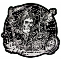 Grim Reaper Rider Biker Patch | Embroidered Patches
