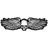 Metal Wings With Skull Patch | Embroidered Patches