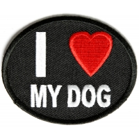 I Love My Dog Patch | Embroidered Patches